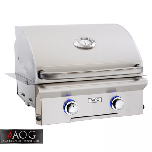 "AOG Grills 24"" L Series Built-In Grill - 24NBL-00SP BBQ GRILLS"