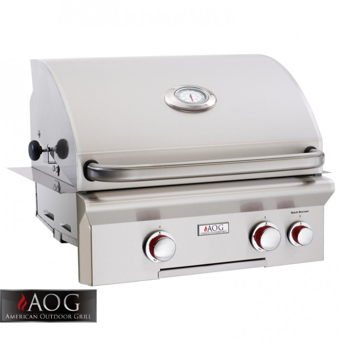 "AOG Grills 24"" T Series Built-In Grill With Rotisserie System - 24NBT BBQ GRILLS"