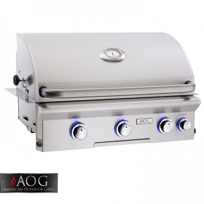 "AOG Grills 30"" L Series Built-In Grill With Rotisserie System - 30NBL BBQ GRILLS"
