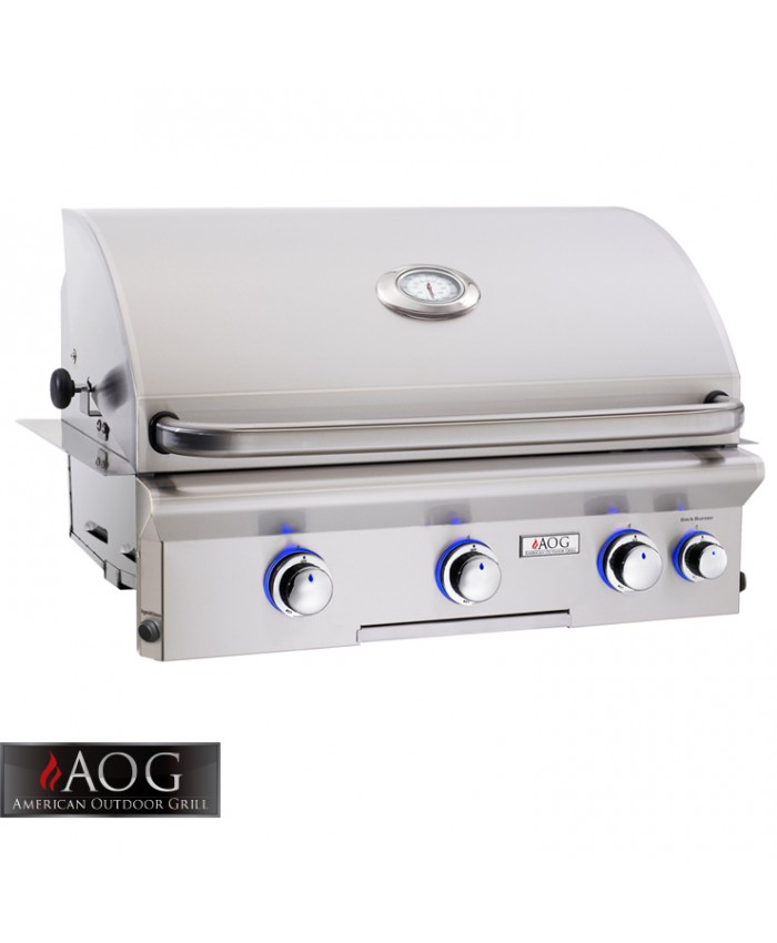 "AOG Grills 30"" L Series Built-In Grill With Rotisserie System - 30NBL"