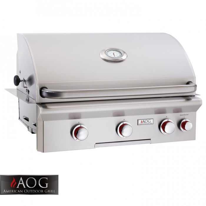 "AOG Grills 30"" T Series Built-In Grill With Rotisserie System - 30NBT BBQ GRILLS"