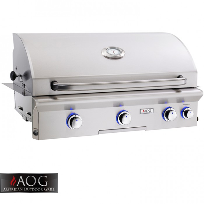 "AOG Grills 36"" L Series Built-In Grill With Rotisserie System - 36NBL BBQ GRILLS"