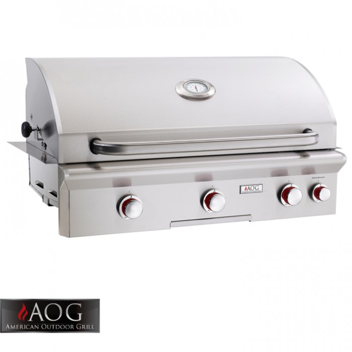 "AOG Grills 36"" T Series Built-In Grill With Rotisserie System - 36NBT BBQ GRILLS"