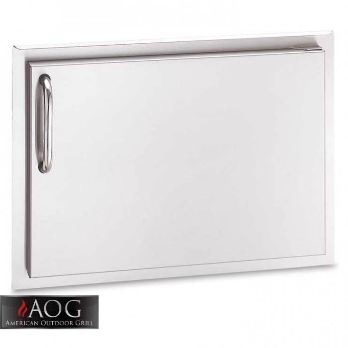 "AOG Grills DBL Wall Stainless Steel 14"" x 20"" Single Storage Door* - 14-20-SSDL BBQ GRILLS"