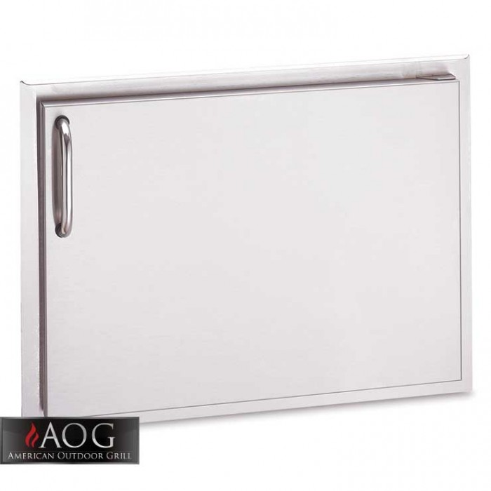 "AOG Grills DBL Wall Stainless Steel 17"" x 24"" Single Storage Door* - 17-24-SSDL"
