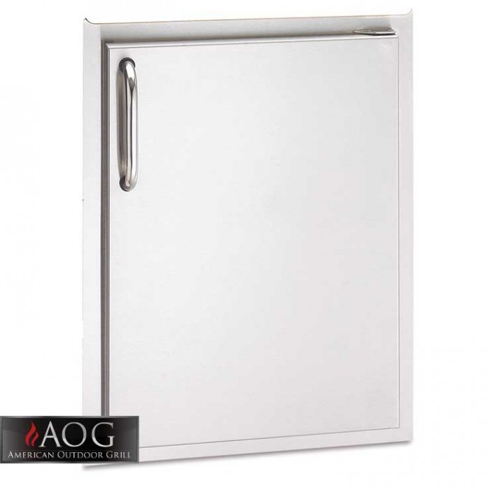 "AOG Grills DBL Wall Stainless Steel 20"" x 14"" Single Storage Door* - 20-14-SSDL BBQ GRILLS"