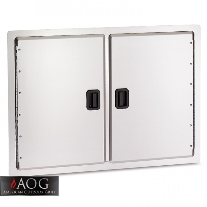 "AOG Grills Stainless Steel 20"" x 30"" Double Storage Door - 20-30-SD BBQ GRILLS"