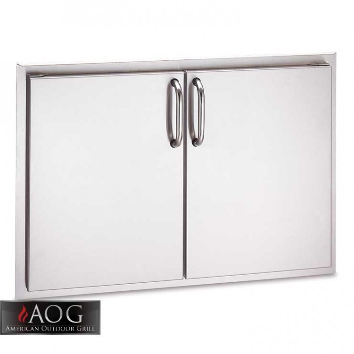 "AOG Grills DBL Wall Stainless Steel 20"" x 30"" Double Door - 20-30-SSD BBQ GRILLS"