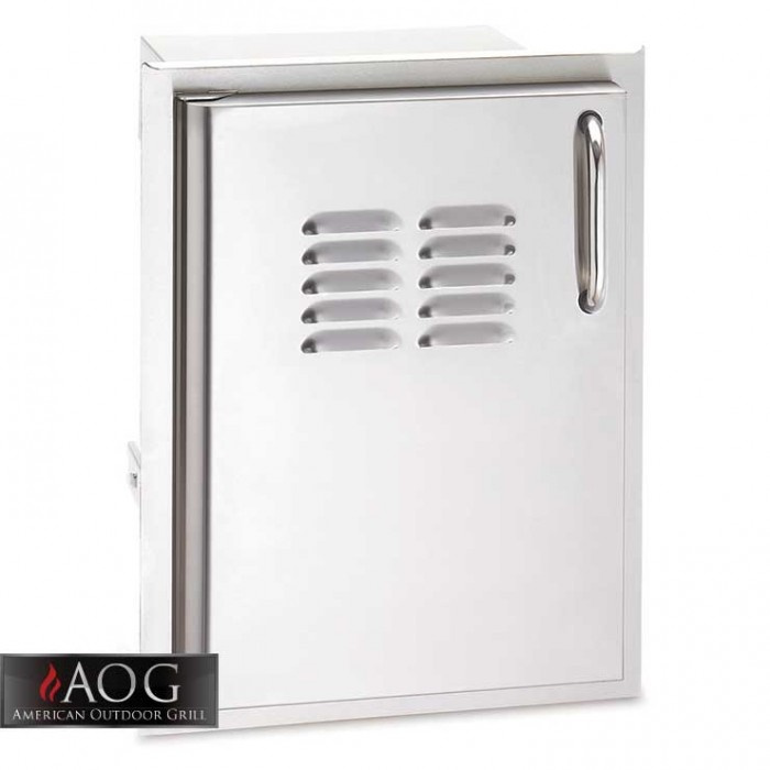 "AOG Grills DBL Wall Stainless Steel 20"" x 14"" Single Access Door w/ Tank Tray* - 20-14-SSDLV BBQ GRILLS"