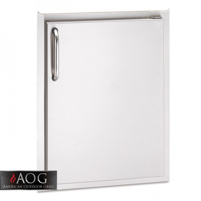 "AOG Grills DBL Wall Stainless Steel 24"" x 17"" Single Storage Door - 24-17 - SSDL BBQ GRILLS"