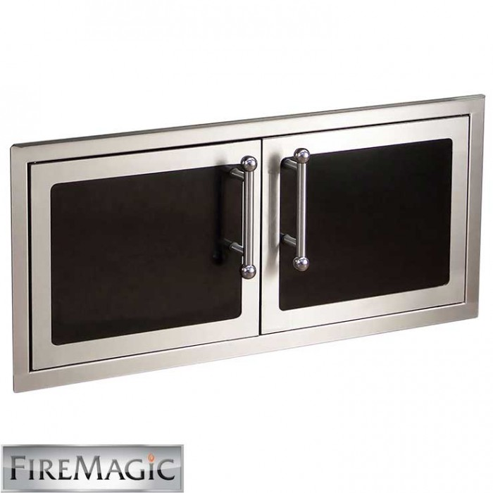 "Fire Magic Black Diamond Edition Double Doors Reduced Height, 16' x 39"" - 53938HSC BBQ GRILLS"