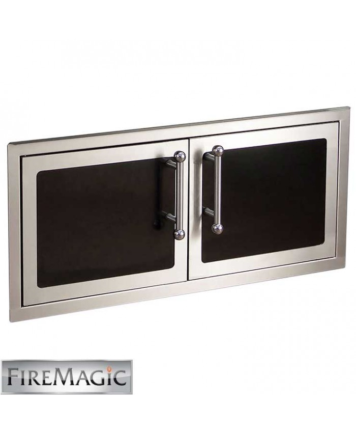 "Fire Magic Black Diamond Edition Double Doors Reduced Height, 16' x 39"" - 53938HSC"