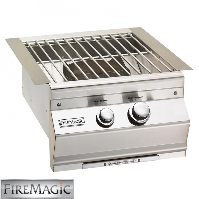 Fire Magic Aurora style w/Cast Brass Burner & Stainless Steel Grid 60K Btu - 19-SLB1N-0