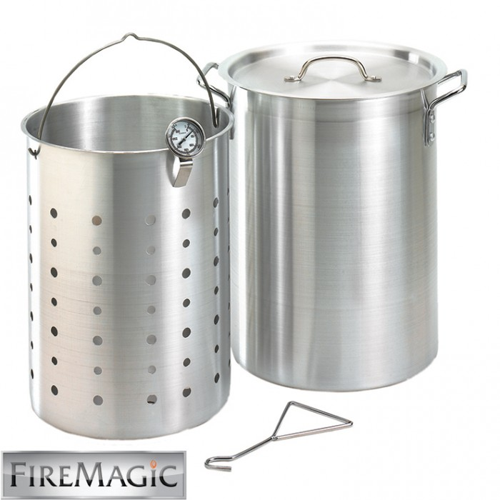 Fire Magic Turkey Frying Pot Kit 26 Qt. Aluminum w/Basket & Thermometer - 3570 Outdoor Kitchen Accessories
