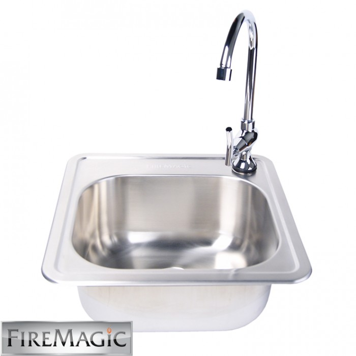 Fire Magic Stainless Steel Sink / Faucet Set - 3588-3587 Fire Magic Grills Collection