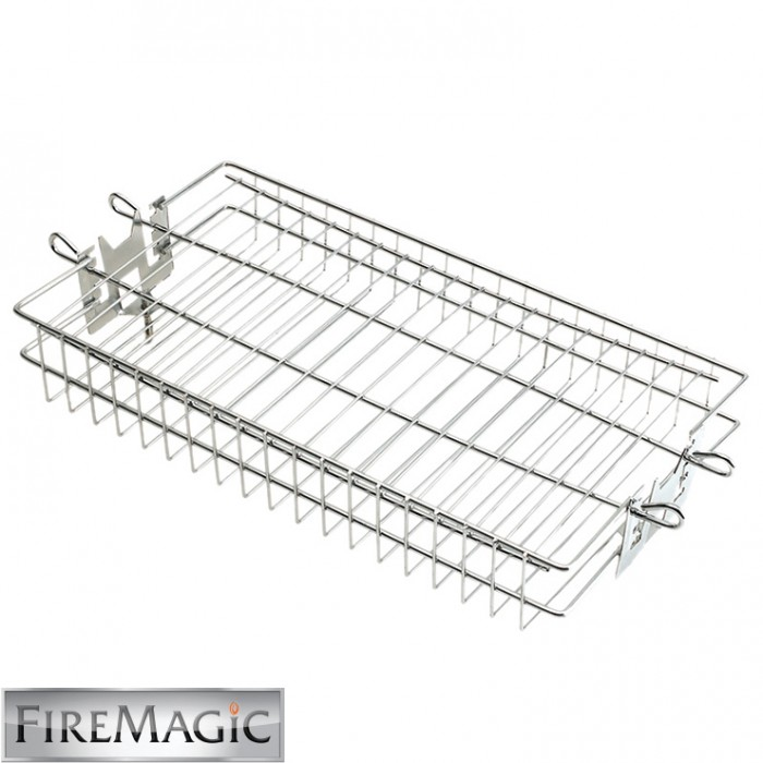 Fire Magic Rotisserie Basket, Flat Stainless - 3618
