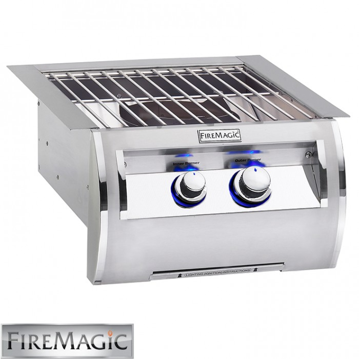 Fire Magic Echelon Diamond style w/Cast Brass Burner & Stainless Steel Grid 60K Btu - 194B1N0