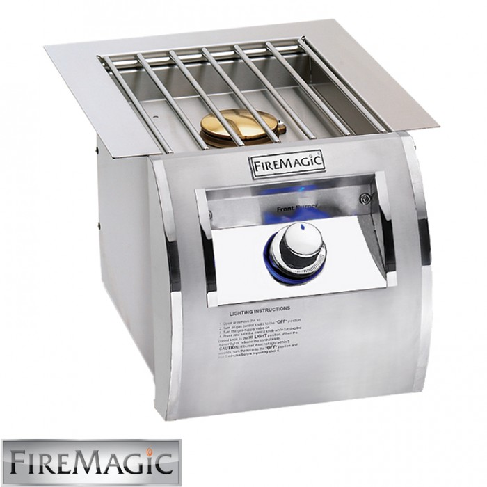 Fire Magic Single Side Burner - Echelon Diamond Style Built In - 32794-1