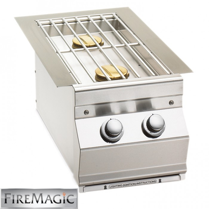Fire Magic Double Side Burner - Aurora Style Built In - 3281L