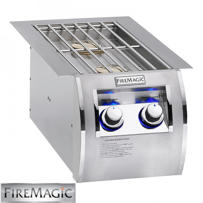Fire Magic Double Side Burner - Echelon Diamond Style Built In - 32814 BBQ GRILLS