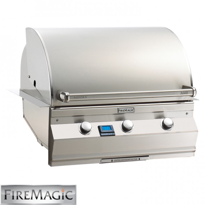 Fire Magic Aurora A660 Built In Grill With Left Side IR Burner - A660i-5L1N BBQ GRILLS