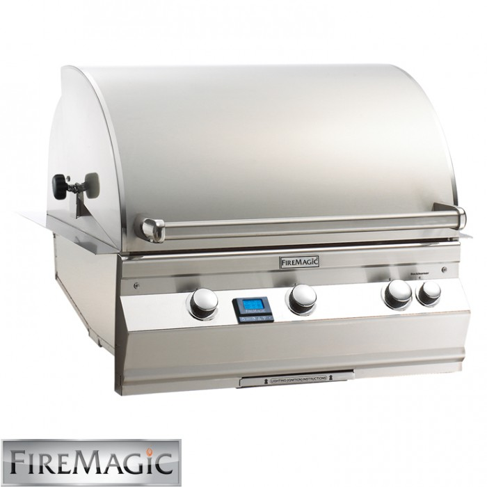 Fire Magic Aurora A660 Built In Grill With Left Side IR Burner & Rotisserie Kit - A660i-6L1N