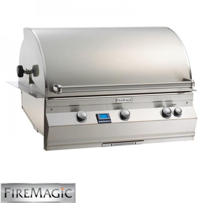 Fire Magic Aurora A790 Built In Grill With Left Side IR Burner & Rotisserie Kit - A790i-6L1N BBQ GRILLS