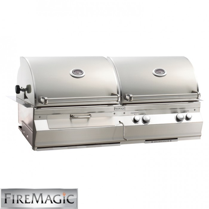 Fire Magic Aurora A830i Gas & Charcoal Combo Built In Grill - A830i-6EAN-CB BBQ GRILLS