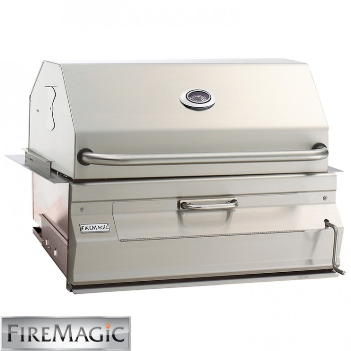 Fire Magic Legacy Charcoal Built In Grill W/Smoker Oven - 14-SC01C-A BBQ GRILLS