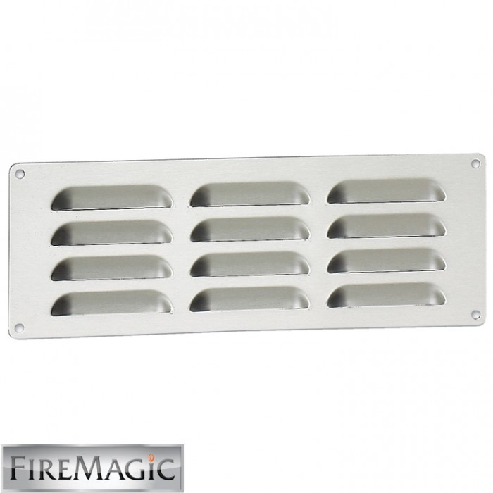 "Fire Magic Legacy Stainless Steel Louvered Venting Panel 3 3/4"" x 12 3/4"" - 5510-01"