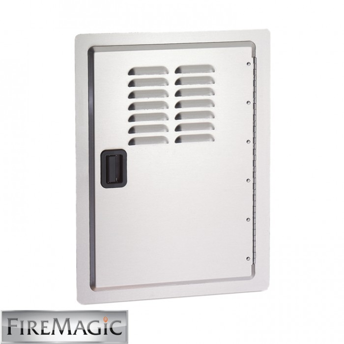 "Fire Magic Legacy Stainless Steel Single Access Door w/Louvers, 20 1/2"" x 14 1/2"" - 23920-1-S"