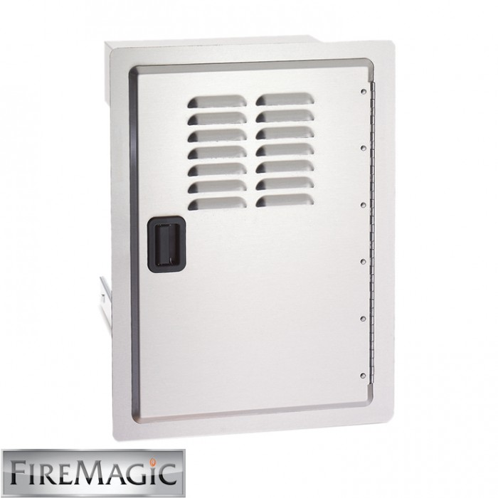 "Fire Magic Legacy Stainless Steel Single Access Door w/Tank Tray & Louvers, 20 1/2"" x 14 1/2"" x 20 1/2"" - 23920-1T-S"