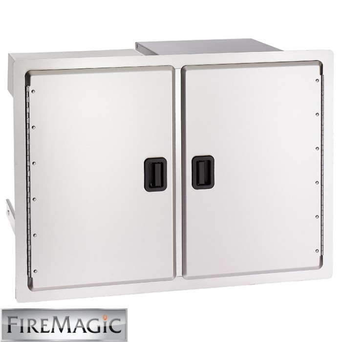 "Fire Magic Legacy SS Dbl Access Doors w/ Enclosed Dual Drawers & Trash Tray, 21"" x 30 1/2"" x 20 1/2"" - 23930S12"