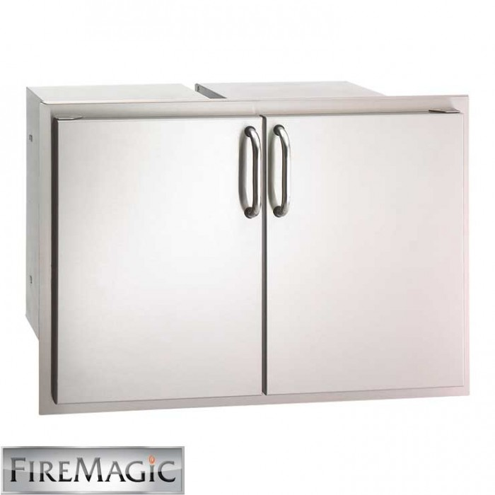 "Fire Magic Select SS Double Door Access w/ 2 Enclosed Dual Drawers, 21"" x 30 1/2"" x 20 1/2"" - 33930S-22"