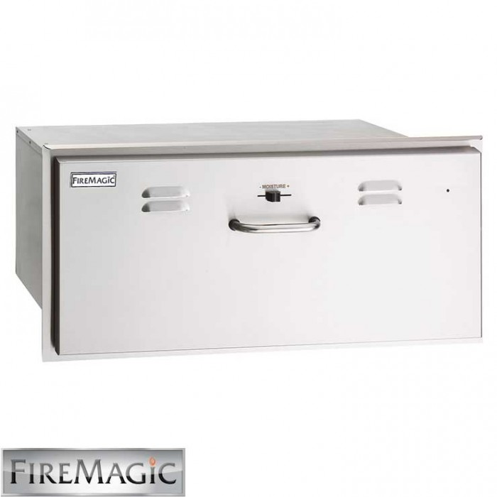 "Fire Magic Select Stainless Steel Electric Warming Drawer, 13"" x 31"" x 20 1/2"" - 33830-SW"