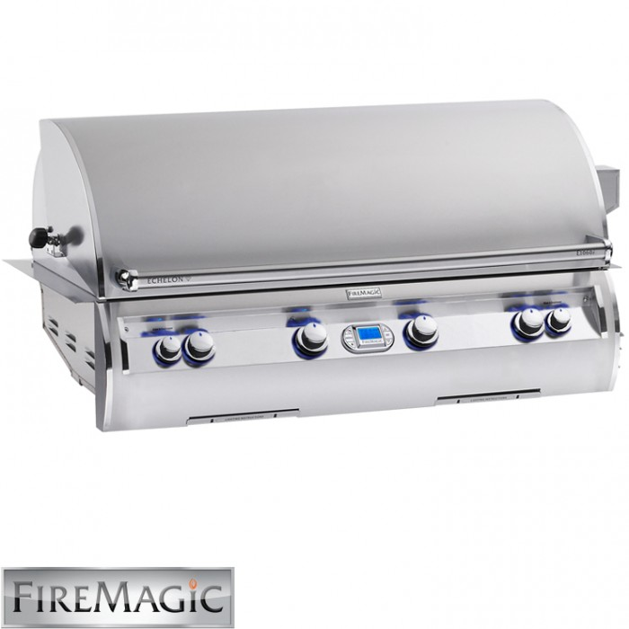 Fire Magic Echelon E1060i Built-In Grill with Digital Thermometer / LHS Infrared Burner - E1060i-4L1N BBQ GRILLS