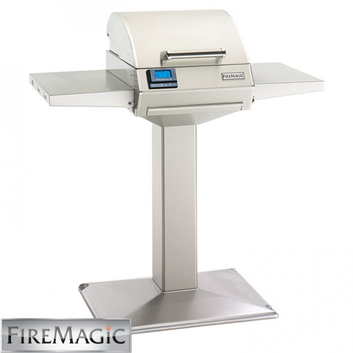Fire Magic E250s Pedestal Grill w/ Patio Base & Shelves - E250s-1Z1E-P6