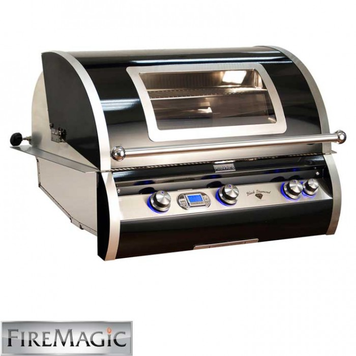 Fire Magic Black Diamond Edition Grill with Magic View Window - H790i-4E1N-W BBQ GRILLS