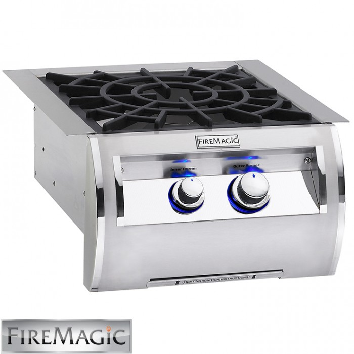 Fire Magic Echelon Diamond Style w/Cast Brass Burner & Porcelain Cast Iron Grid 60K Btu - 19-4B2N-0