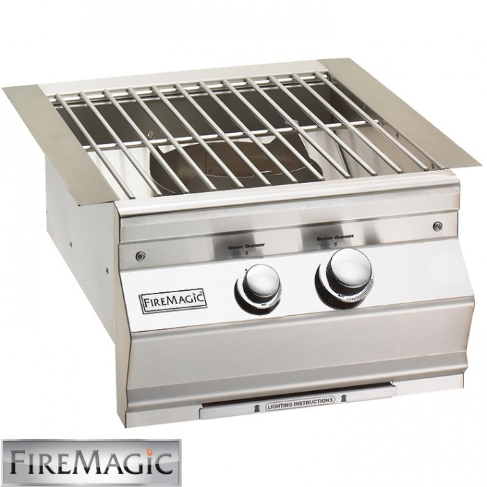 Fire Magic Cast Brass Burner & Stainless Steel Grid 60K Btu - 19S0B1N0