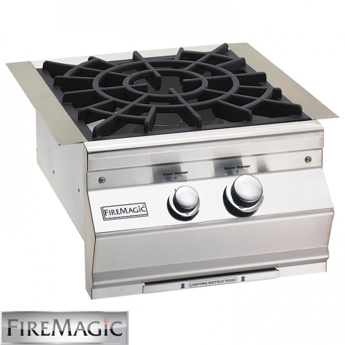 Fire Magic Cast Brass Burner & Porcelain Cast Iron Grid 60K Btu - 19-S0B2N-0