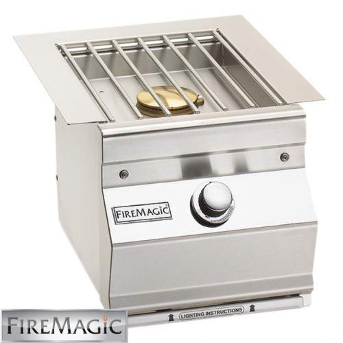 Fire Magic Single Side Burner - Aurora Style Built In - 3279L-1