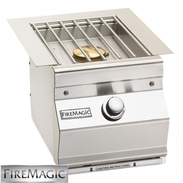 Fire Magic Single Side Burner - Aurora Style Built In - 3279L1