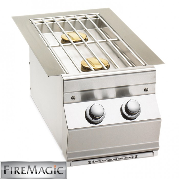 Fire Magic Double Side Burner - Built In - 3281 BBQ GRILLS