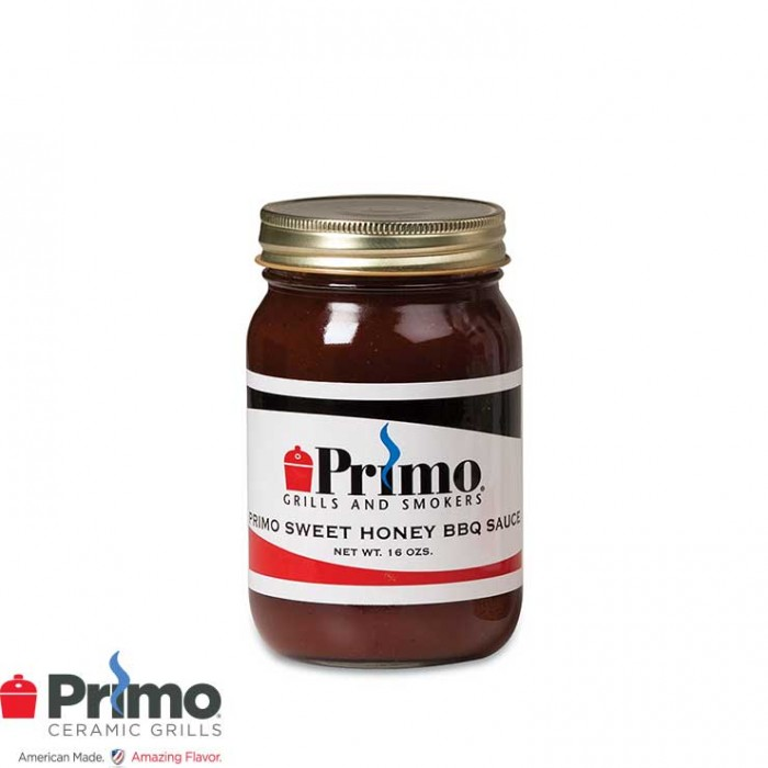 Primo Sweet Honey BBQ Sauce by John Henry (16 oz Bottle) PRM505 Primo Grills Collection