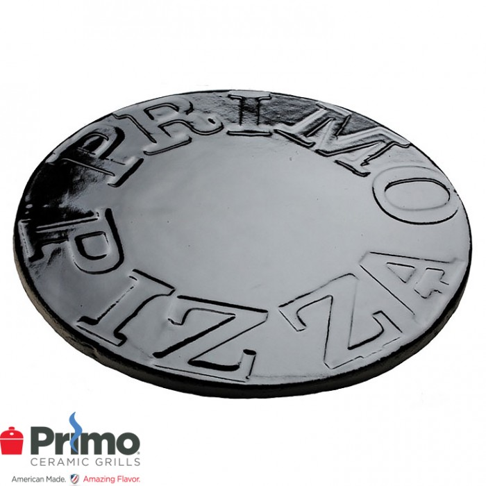 "Primo 16"" Glazed Ceramic Baking Stone for XL 400, LG 300, Kamado PRM338"