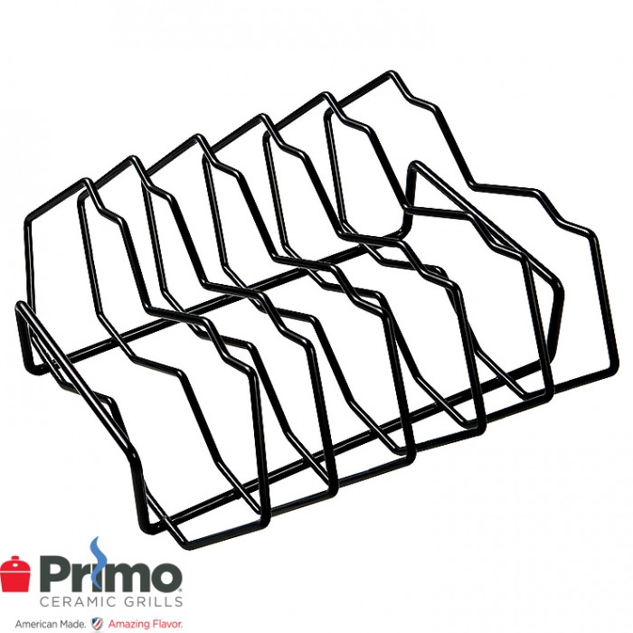 Primo 5-Slot Rib Rack Oval XL 400/LG 300/JR 200/Kamado PRM342 Outdoor Kitchen Accessories