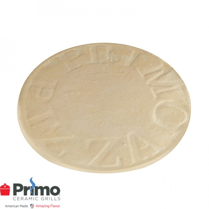 "Primo 16"" Natural Finish Ceramic Baking Stone or XL 400, LG 300, Kamado PRM348"