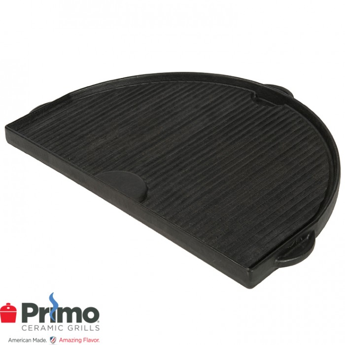 Primo Cast Iron Griddle Oval JR 200 PRM362 Outdoor Kitchen Accessories