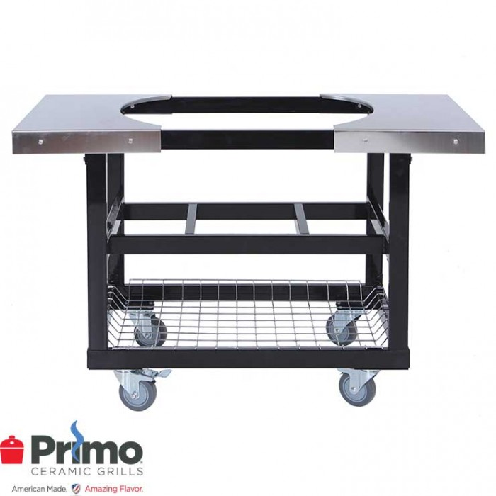 Primo Cart with Basket w/SS Side Shelves for Oval LG 300 & XL 400 PRM370